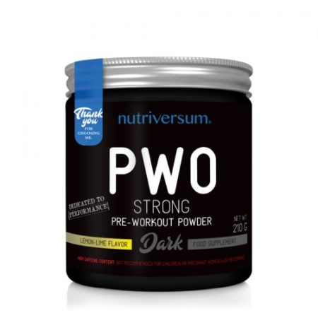 DARK PWO Strong 210g edzés előtti teljesítménynövelő készítmény
