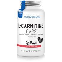 WSHAPE L-Carnitine 120 kapszula l-karnitin tartalmú táplálék-kiegészítő