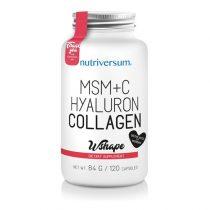 WSHAPE MSM+C Hyaluron Collagen 120 kapszula
