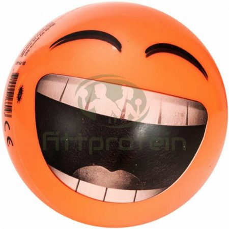 Gumilabda Smiley 22 cm narancssárga