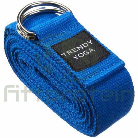 Trendy Jóga szalag, 190x4x0,2 cm 9013B kék