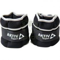 Csukló- és bokasúly Aktivsport 2x1 kg fekete-szürke