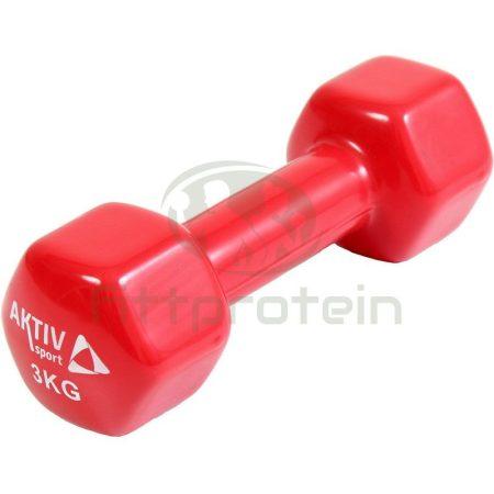 Kézisúlyzó vinyl Aktivsport 3 kg piros