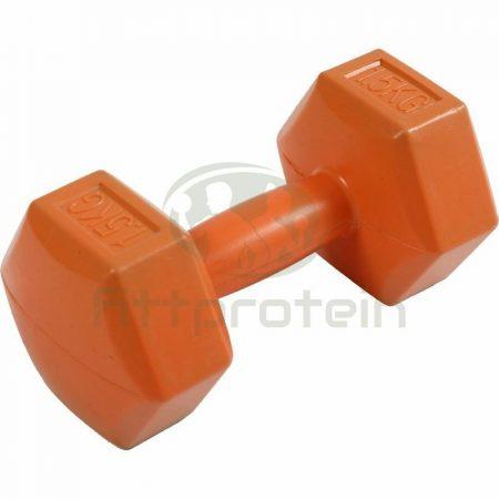 Kézisúlyzó cementes Aktivsport 1,5 kg sárga
