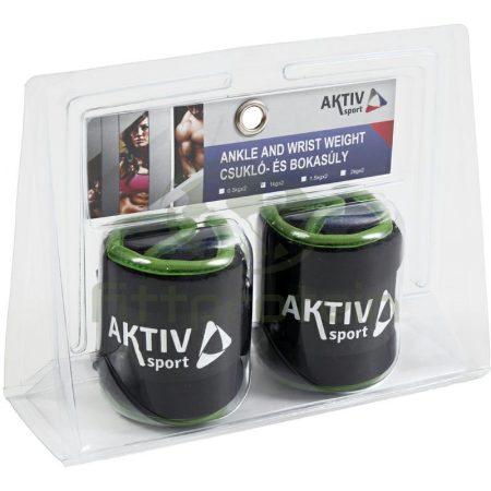 Csukló- és bokasúly Aktivsport 2x1 kg fekete-zöld