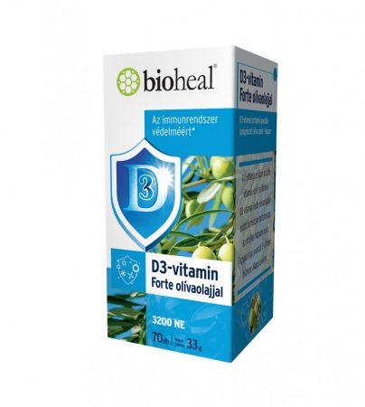 Bioheal D3-vitamin olívaolajjal 70 kapszula