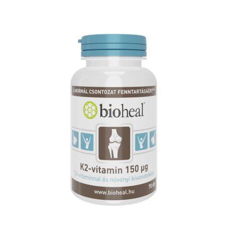 Bioheal K2-vitamin 150 μg D3-vitaminnal és növényi kivonatokkal 70 tabletta
