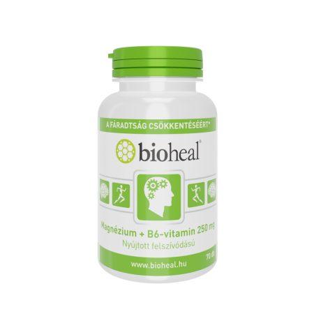 Bioheal Magnézium + B6-vitamin szerves nyújtott felszívódású 70 tabletta