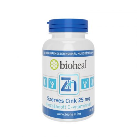 Bioheal Szerves Cink 25 mg 70 tabletta