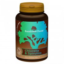 Rainforest Foods BIO Chlorella és Spirulina 300db 500mg tabletta
