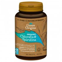 Green Origins BIO Chlorella és Spirulina tabletta 180db 500mg