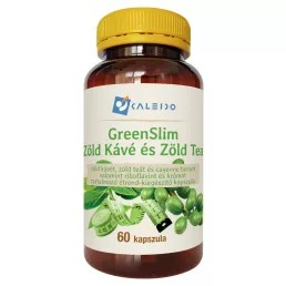 Caleido Greenslim Zöld Kávé és Zöld Tea 60db 550mg kapszula