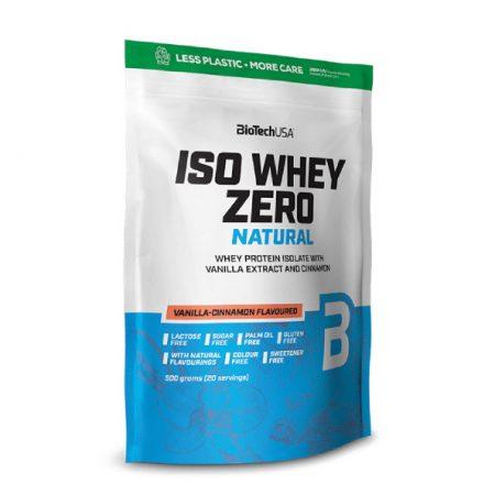 Biotech Iso Whey Zero Natural italpor 500g Vanília Fahéj