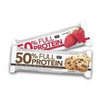QNT 50% FULL PROTEIN BAR fehérje szelet 1karton energia vagy fehérjeszelet