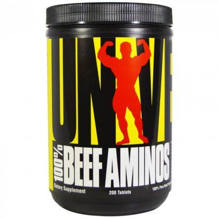 Universal Nutrition 100% Beef Aminos - 200 tabletta aminosav készítmény