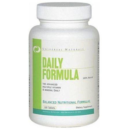 Universal Nutrition Daily Formula - 100 tabletta ásványi anyagokat tartalmazó táplálékkiegészítő