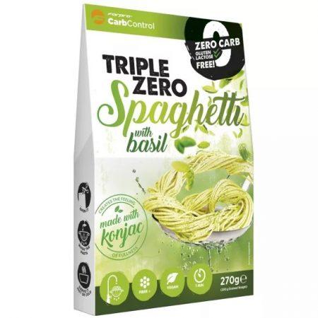Triple Zero Pasta-Spaghetti bazsalikommal diétás termék, közel 0 kalóriával