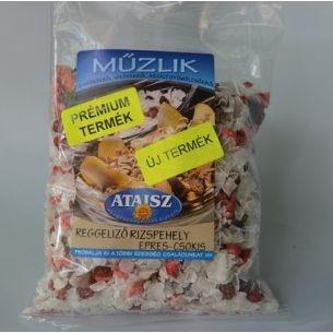 Reformélelmiszer Ataisz reggeliző rizspehely eperrel és csokival 200g