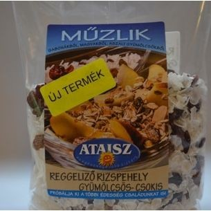 Reformélelmiszer Ataisz reggeliző rizspehely gyümölcsös- csokis 200g