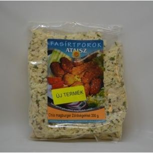 Reformélelmiszer Ataisz chia magburger 200 g zöldségekkel