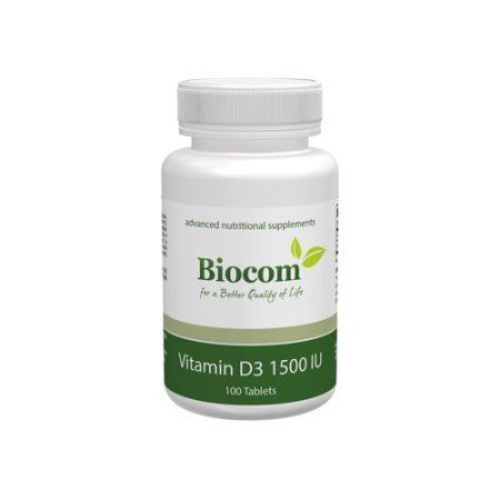 Biocom Vitamin D3 1500 IU 100 tabletta