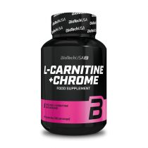 Biotech L-Carnitine + Chrome 60 kapszula l-karnitin termék fogyókúrázóknak