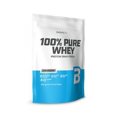 Biotech 100% Pure Whey 454g tejsavó fehérjét tartalmazó fehérjepor