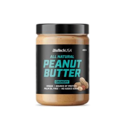 Biotech Peanut mogyoróvaj Crunchy (ropogós) 400g