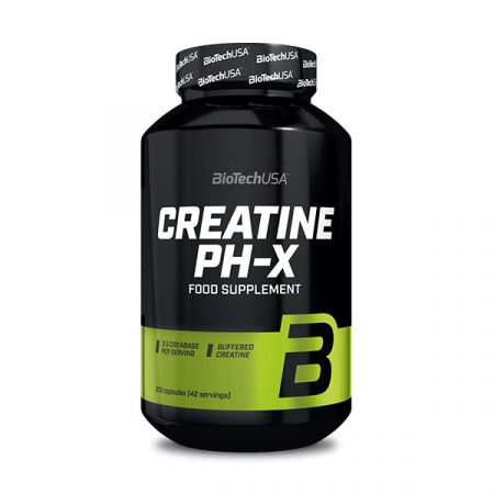 Biotech Creatine pH-X 210 kapszula kreatin kapszulás kivitelben