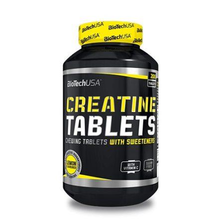 Biotech Creatine Tablets 200 rágótabletta kreatin kapszulás kivitelben