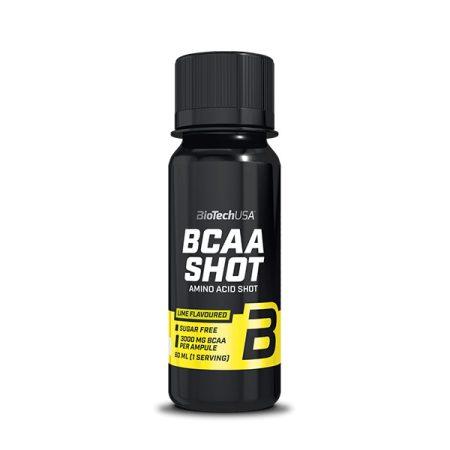 Biotech BCAA Shot 60ml BCAA aminosav táplálék-kiegészítő