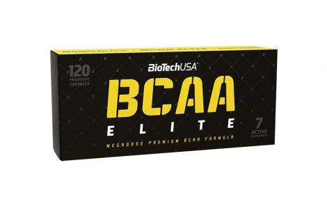 Biotech BCAA Elite 120 megadózisú kapszula BCAA aminosav táplálék-kiegészítő