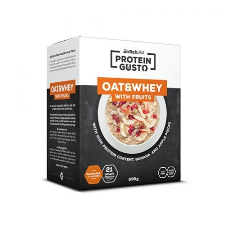 Biotech Proteingusto Oat & Whey with fruits 696g fehérje desszert