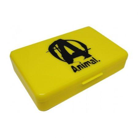 Animal sárga gyógyszeres doboz edzés kiegészítő termék sportolóknak