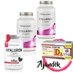 Fittprotein Collagen C+Q10 - 120 kapszula (2db) + WSHAPE Hyaluron 60 kapszula (1db) + Jutavit D-vitamin 2200NE 40 tabletta (1db)