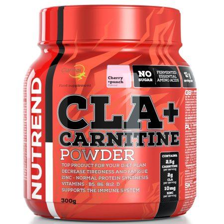 Nutrend CLA + CARNITINE POWDER - 300g CLA fogyasztószer
