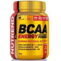 Nutrend BCAA Energy Mega Strong Powder - 500 g aminosav táplálékkiegészítő