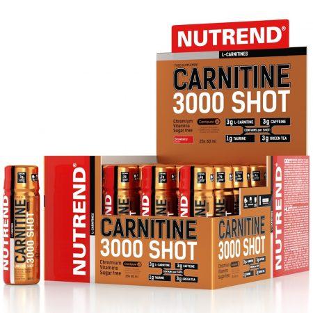 Nutrend Carnitine 3000 Shot - 60ml l-karnitin tartalmú diétás termék