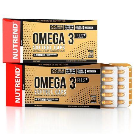 Nutrend Omega 3 Plus Softgel Caps - 120 kapszula Omega3 vitamin készítmény