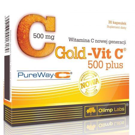 Olimp Labs GOLD-VIT C® 500 PLUS - 30 kapszula C-vitamin készítmény