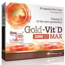Olimp Labs Gold VIT™  D Max 2000 IU - 30 kapszula D.vitamin tartalmú táplálékkiegészítő