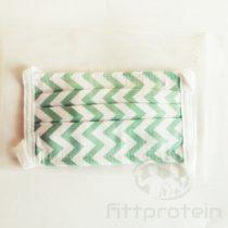 Két rétegű textil Szájmaszk menta mintás