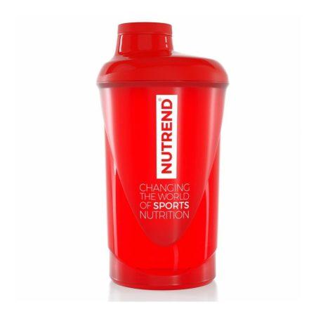Nutrend Shaker piros 600 ml edzés kiegészítő termék sportolóknak