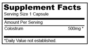 Biocom Colostrum hatóanyag táblázat