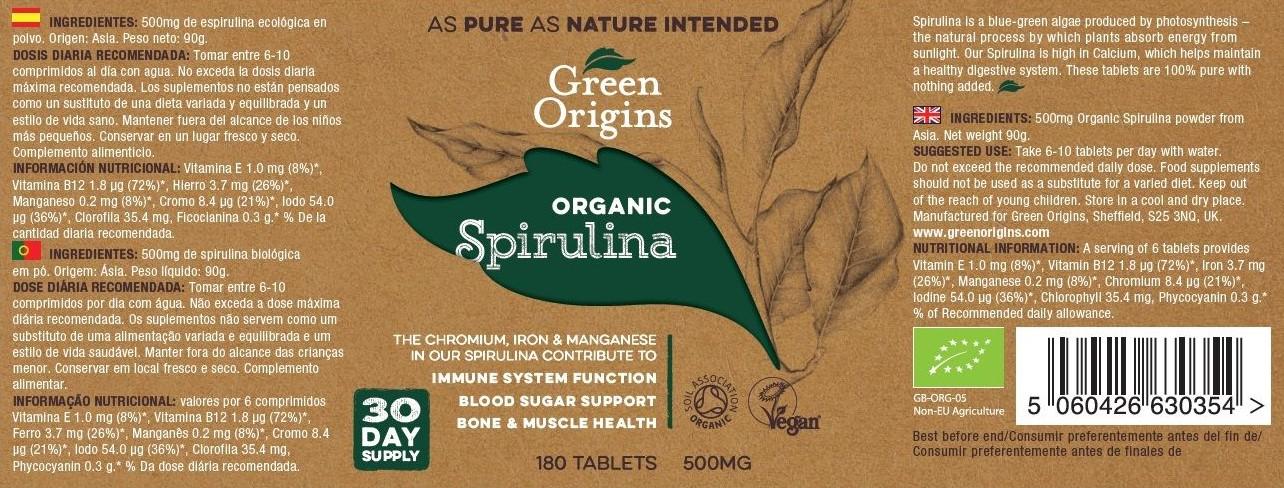 Green Origins BIO Spirulina tabletta