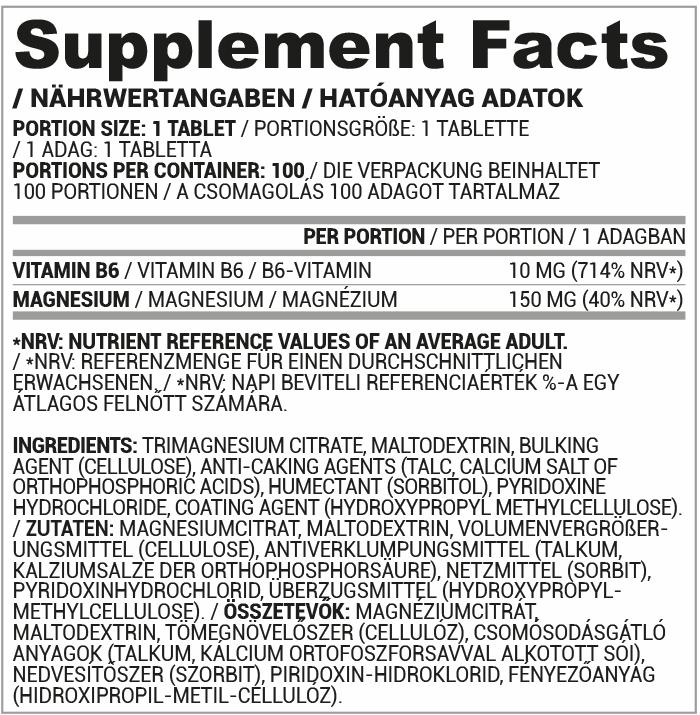 Vita mg+b6 összetétel