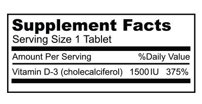 Biocom Vitamin D3 1500 IU hatóanyag