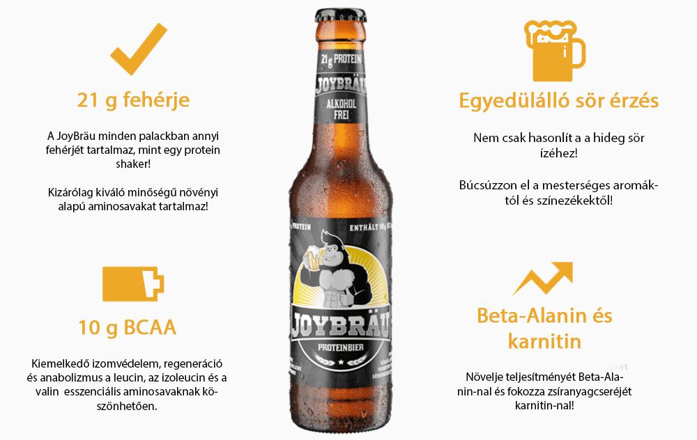 JoyBrau protein sör edzés utáni ital