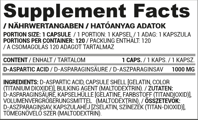 Nutriversum Dark DAA összetevők